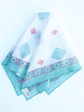 Load image into Gallery viewer, Cotton White Square Scarf
