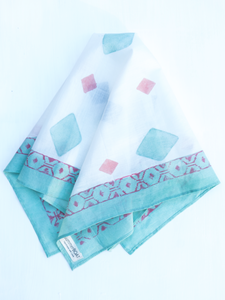 Cotton White Square Scarf