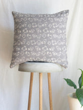 Load image into Gallery viewer, Linen Grey Cushion With Birdies