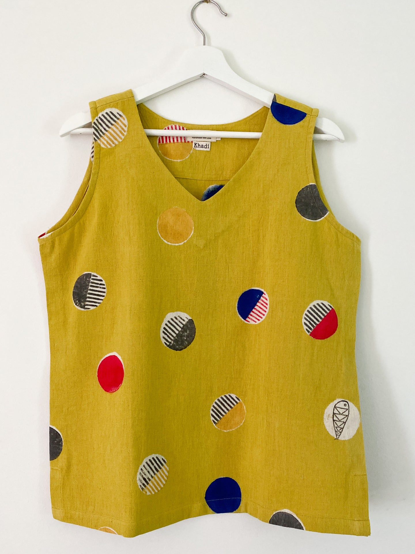 Yellow  Candy Sleeveless Top