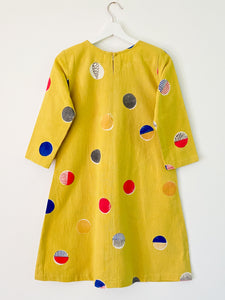 Yellow Candy 3/4Sleeve Dress