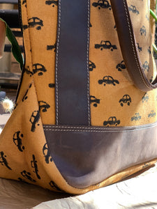 Canvas Leather Car Tote Bag