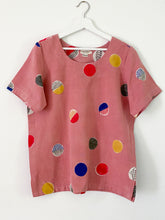 Load image into Gallery viewer, Peach Pink Candy Half-Sleeve Top