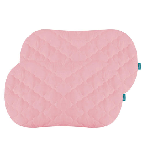 Biloban Pink Bassinet Mattress Pads/Cover, Oval/Hourglass - 2 Pack, Microfiber - Biloban Online Store