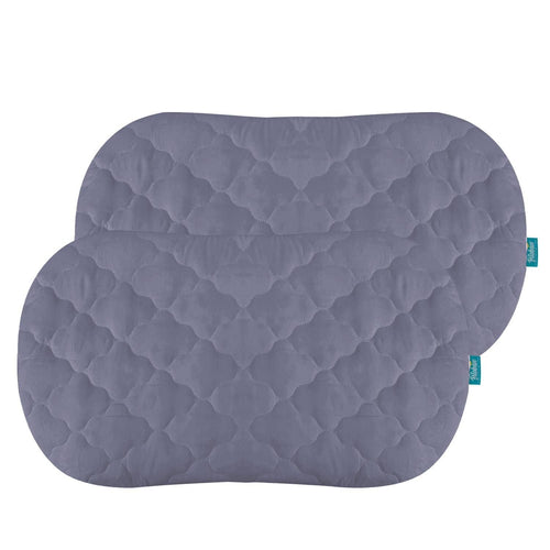Biloban Grey Bassinet Mattress Pads/Cover, Oval/Hourglass - 2 Pack, Microfiber - Biloban Online Store