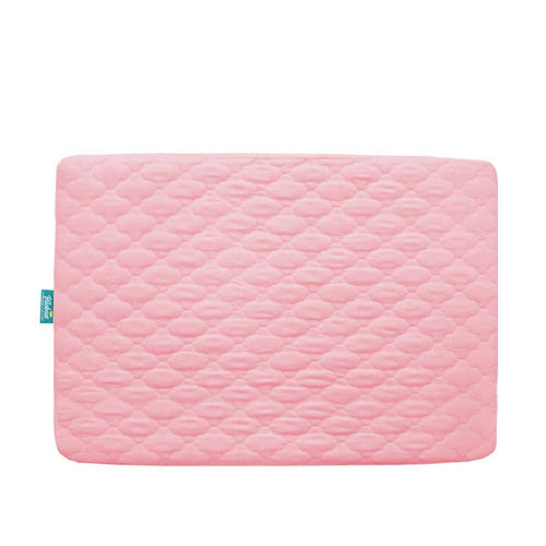 Biloban Waterproof Pack N Play Mattress Pad/ Protector, Ultra Soft Microfiber - Pink (for Mini Crib 39