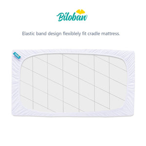 "Biloban Waterproof Mattress Pad Cover - Ultra Soft Bamboo ( for 36""×18""Cradle ) - Biloban Online Store"