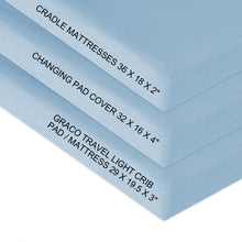 Load image into Gallery viewer, Organic Cotton Changing Pad Covers - 2 Pack, Light Blue - Biloban Online Store