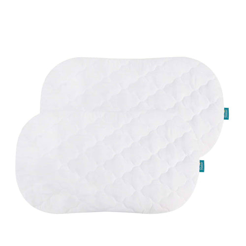 Biloban White Bassinet Mattress Pads/Cover, Oval/Hourglass - 2 Pack, Microfiber - Biloban Online Store