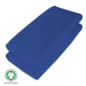Changing Pad Cover - 2 Pack Navy Blue,Ultra Soft 100% Jersey Knit Cotton,Waterproof - Biloban Online Store