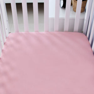 "Crib Sheets - 2 Pack, Microfiber, Grey & Pink ( for Standard Crib 52"" x 28"" ) - Biloban Online Store"