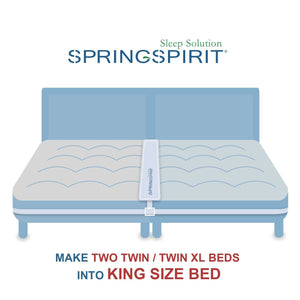 Bed Bridge Twin to King Converter Kit, Twin Bed Connector for 2 Single Twin Mattress