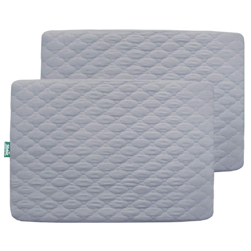 Pack n Play Mattress Protector, Ultra Soft Microfiber Quilted, 2 Pack Gray - Biloban Online Store