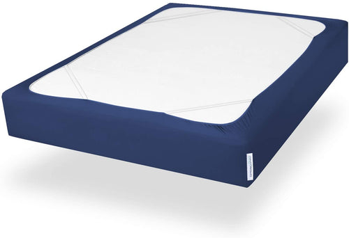 Twin Size Box Spring Cover with Smooth and Elastic Woven Material, Alternates for Bed Skirt, Wrinkle & Fading Resistant, Washable, Dustproof, Navy - Biloban Online Store