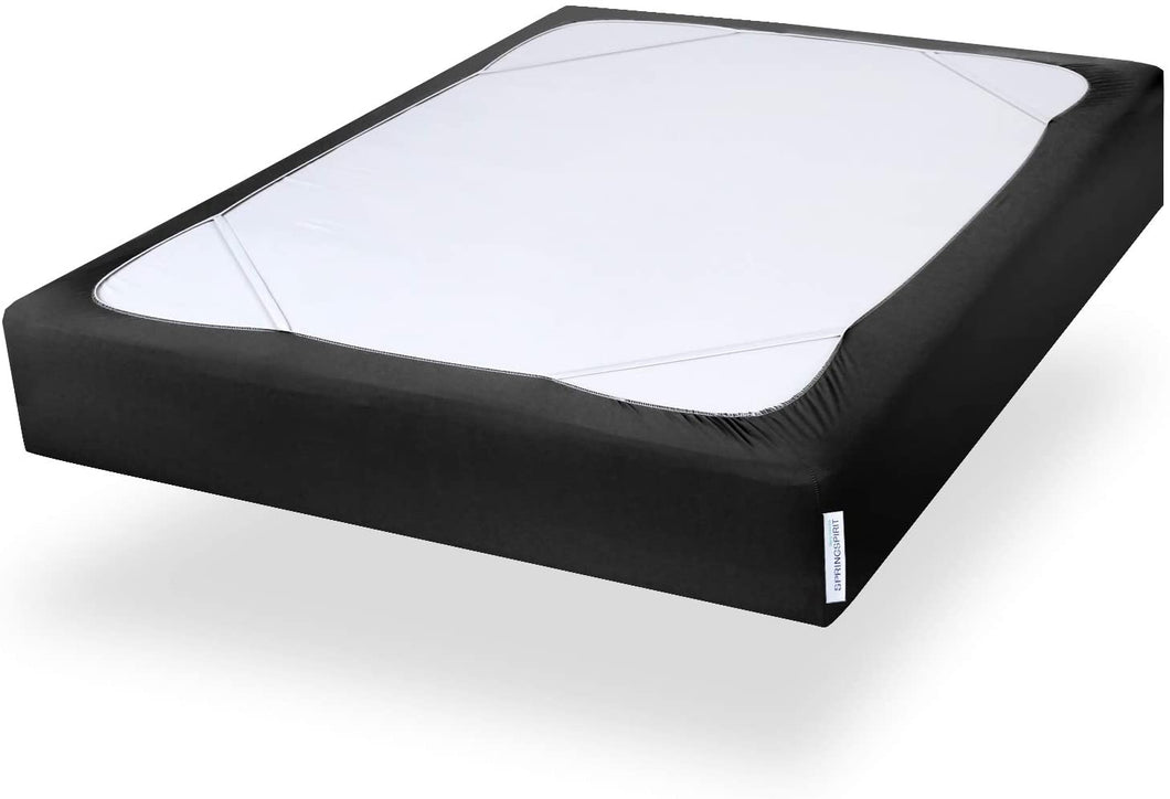 Box Spring Cover Twin XL Size, Alternates for Bed Skirt, Smooth and Elastic Wrap Around, Dustproof, Black - Biloban Online Store