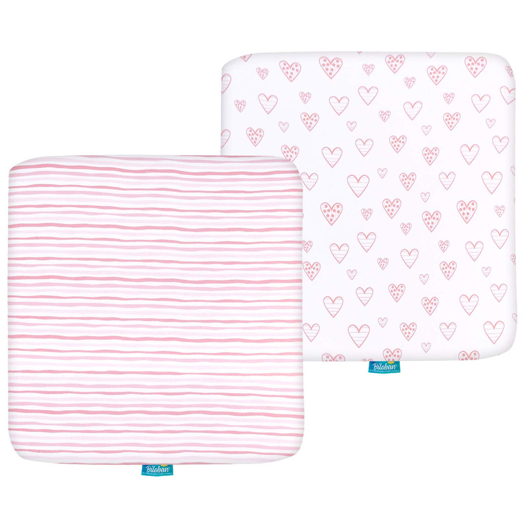 Square Playard/Playpen Sheets, Perfect for 36 X 36 Portable Playard, 2 Pack, 100%  Cotton - Biloban Online Store