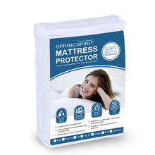 "Load image into Gallery viewer, Waterproof Mattress Protector, Ultra Soft Microfiber Quilted, Fitted with Deep Pocket up to 14"" Depth - Biloban Online Store"