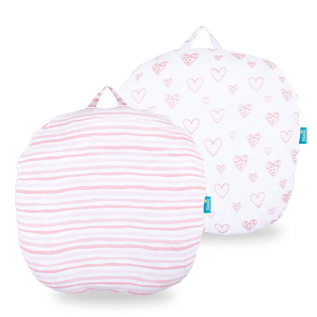 Newborn Lounger Pillow Cover - 2 Pack, 100% Jersey Knit Cotton - Biloban Online Store