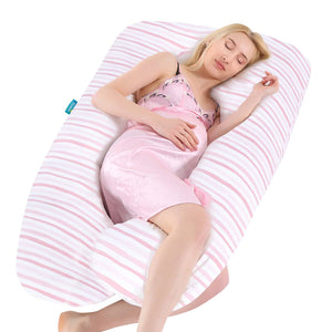 U-Shaped Pregnancy Pillow Cover - Ultra Soft 100% Jersey Knit Cotton - Biloban Online Store