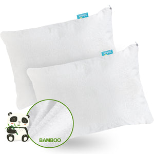Toddler Pillowcase- 2 Pack, Waterproof, Bamboo Terry Surface, White - Biloban Online Store