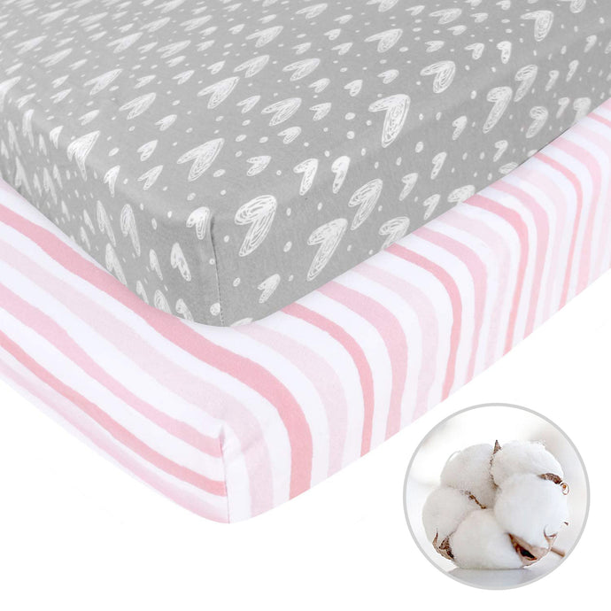 Biloban Bassinet Mattress Pad Cover Protector - Bamboo 2 Pack
