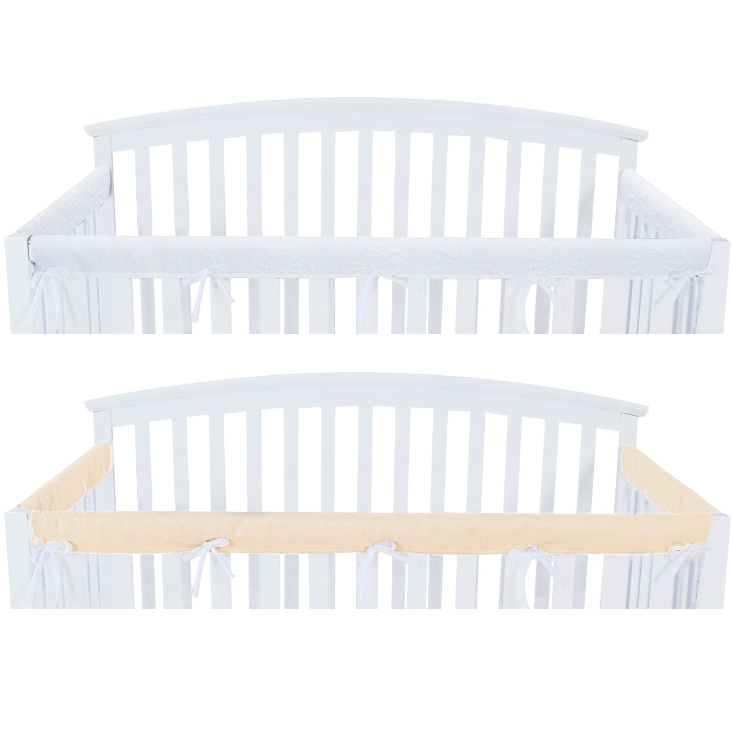 3 Pieces Crib Rail Cover Protector Safe Teething Guard Wrap Yellow Biloban Online Store