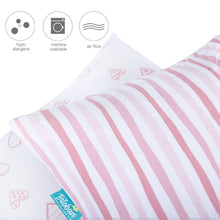 Load image into Gallery viewer, Biloban Toddler Pillowcase for Baby Girls - 2 Pack, Ultra Soft 100% Jersey Cotton, Envelope Style - Biloban Online Store