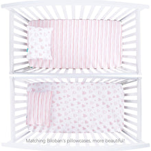 "Load image into Gallery viewer, Biloban Stretchy Fitted Crib Sheet for Baby Girls - 2 Pack, Ultra Soft and 100% Jersey Knit Cotton ( for Standard Crib 52""x28"" ) - Biloban Online Store"