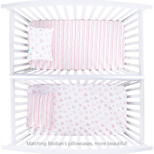 "Crib Sheets for Baby Girls - 2 Pack, Ultra Soft and 100% Jersey Knit Cotton ( for Standard Crib 52""x28"" ) - Biloban Online Store"
