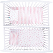 Load image into Gallery viewer, Baby Girls Crib Bedding 3-Piece Set (Bumper, Sheet and Skirt) - Biloban Online Store