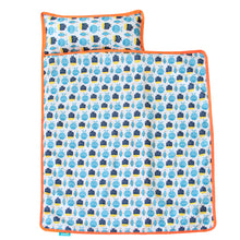 Load image into Gallery viewer, Toddler Nap Mat - Convenient, Portable, A Carry Handle, Perfect for Daycare, Fish Pattern - Biloban Online Store