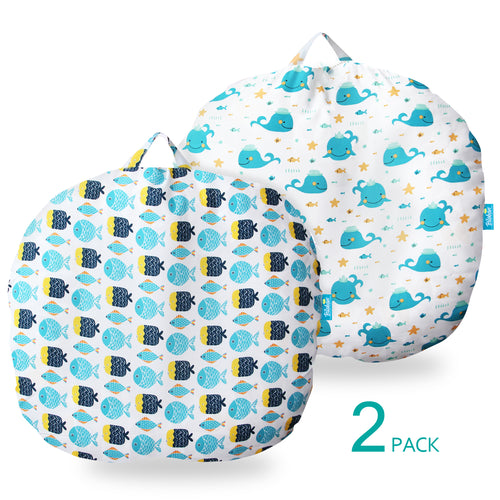 Newborn Lounger Cover 2 Pack, Breathable & Reusable Lounger Removable Slipcover for Girls Boys, Snugly Fit Baby Infant Lounger - Biloban Online Store