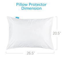 Load image into Gallery viewer, 4 Pack Pillow Protectors - Polyester Knitted Fabric, Zippered,100% Waterproof, White - Biloban Online Store