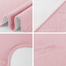 Load image into Gallery viewer, Reusable Washable Bed Pads for Incontinence, Non-Slip, 52'' x 34'', Pink - Biloban Online Store