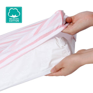 Changing Pad Cover for Baby - 2 Pack Pink, Ultra Soft 100% Jersey Knit Cotton - Biloban Online Store