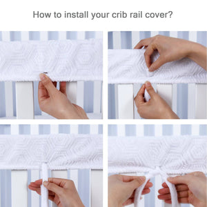 Crib Rail Cover for Long Front Crib Rail- Single Pack, Reversible Use - Biloban Online Store