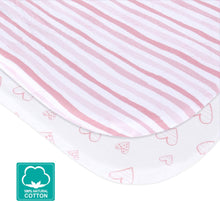 Load image into Gallery viewer, Bassinet Fitted Sheets for Baby Girls - 2 Pack, Cotton - Biloban Online Store