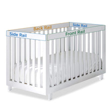 Load image into Gallery viewer, 3 Pieces Quilted Crib Rail Cover- Protector Safe Teething Guard Wrap, Navy& White - Biloban Online Store