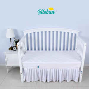 Biloban Zippered Crib Mattress Protector - Breathable 6 Side Fully Encased