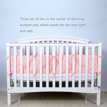 "Load image into Gallery viewer, Crib Bumper Pads- Fit for Standard Size Crib (52""x28""), Pink - Biloban Online Store"
