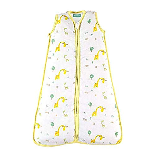 Baby Sleep Sack - Warm Muslin, Giraffe-Yellow, 2.5 TOG - Biloban Online Store