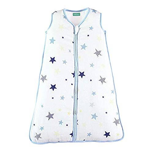 Baby Sleep Sack - Warm Muslin, Star-Blue, 2.5 TOG - Biloban Online Store