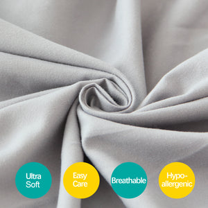 Grey Crib Skirt Four Fabric Sides Elastic Wrap Around Dust Ruffled Solid Bed Skirts Easy On/Easy Off, Bedding Dust Ruffle for Baby Girls and Baby Boys, Fit All Standard