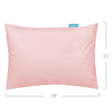 "Load image into Gallery viewer, Toddler Pillowcase- 2 Pack, 100% Cotton, 12"" x 16"", 13"" x 18"", 14"" x 19"", Pink - Biloban Online Store"