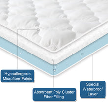 "Load image into Gallery viewer, Waterproof Mattress Protector, Breathable & Noiseless ,Quilted Fitted with Deep Pocket Strethes up to 18"" Depth - Biloban Online Store"