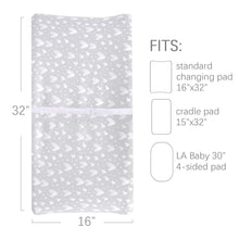 Load image into Gallery viewer, Changing Pad Cover - 2 Pack Gray&Pink, Ultra Soft 100% Jersey Knit Cotton, Heart Print - Biloban Online Store