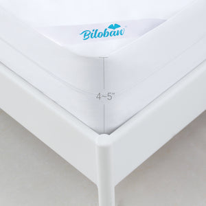 Low Profile Box Spring Encasement , Dustproof and Waterproof 6 Sides Wrapping Zippered Mattress Protector Cover, Fits 4-5 Inches Depth - Biloban Online Store