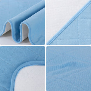 Waterproof Sheet and Mattress Protector 18'' X 24'', Non-Slip for Baby, Blue - Biloban Online Store