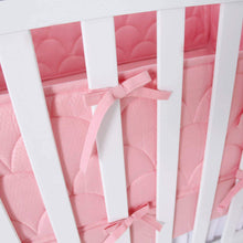 "Load image into Gallery viewer, Crib Bumper Pads - 3D Weave Print, Fit for Standard Crib (52""x28""), Pink - Biloban Online Store"