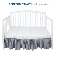 "Load image into Gallery viewer, Crib Mattress Topper, 28"" x 52"", Non-Slip Bamboo Surface, Airflow Foam - Biloban Online Store"